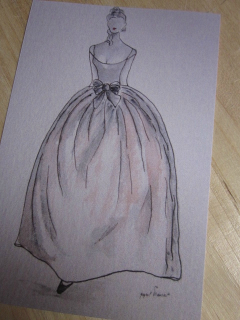Carte postale - La tenue de bal (2)