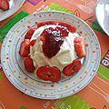 Bowl cake aux fraises et à la crème (5 pp)