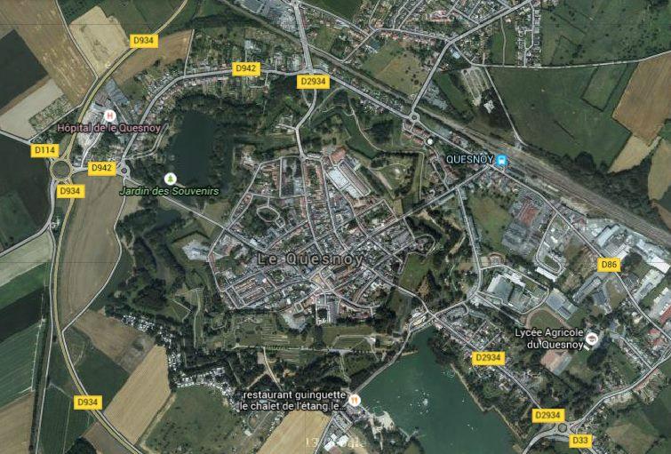 Le Quesnoy map