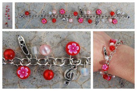 Bracelet_breloques_rouge_rose_danse