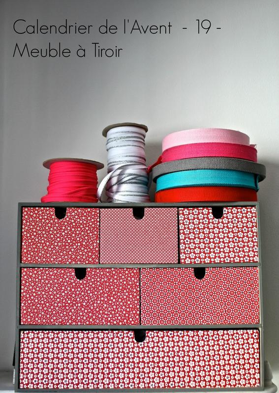 Calendrier de l'Avent 19 meuble à tiroir