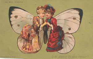 Dames et papillon vintage_0002