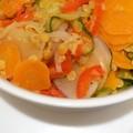 Légumes du marché en curry et corail