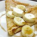Crêpes aux bananes et sirop d'érable