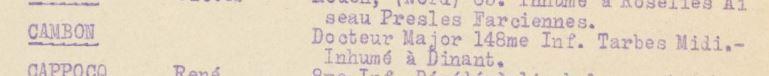 148ème ri, inhumé à Dinant, Anseremme