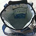 Un nouveau sac shopping tissu jean decore