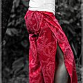 Pantalon thaï Rouge passion