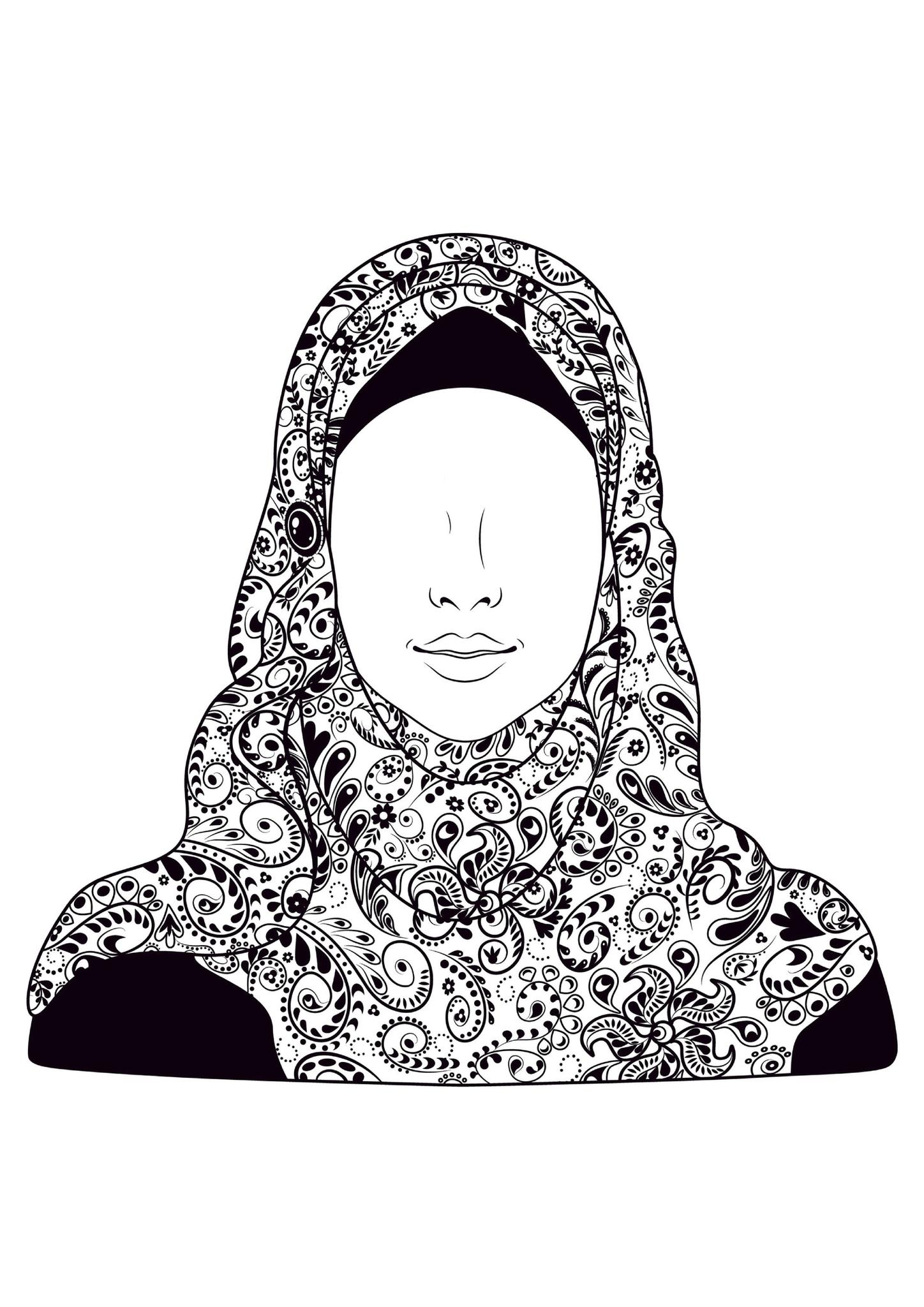 Coloriage Filles Bebe Muslim L Islam Pour Les Enfants Musulmans