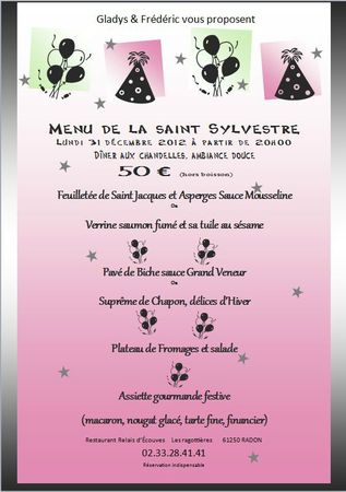 menu reveillon 2012