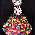 Gâteau anniversaire en bonbons