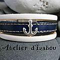 Envie de voyage ! envie de bâteau ! assortie à ma marinière, je mettrai mon bracelet multirangs marinière en cuir marine et blan