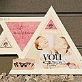 Un cadre en bois triangles pour boukits
