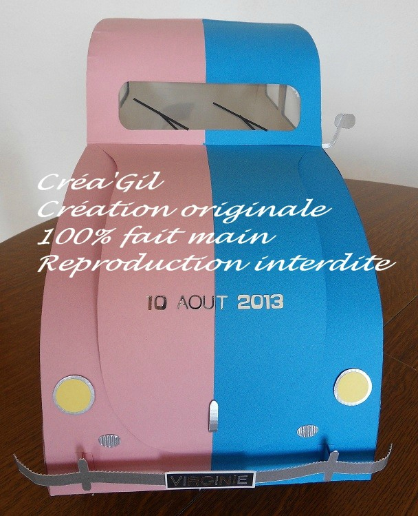 Urne voiture coccinelle 1958 3 Créa Gil