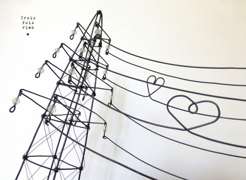 hight voltage of love, trois fois rien, fil de fer, wire, scénette, pylône (5)