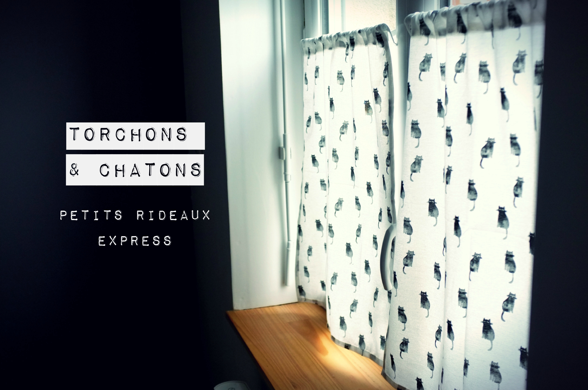 Torchons & chatons : petits rideaux express !