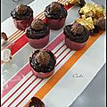 Cupcakes gourmands au chocolat & ferrero rochers