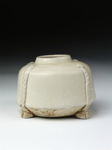 Waterpot, incised stoneware with copper-bound rim, Ding ware, China, Northern Song dynasty, 1101