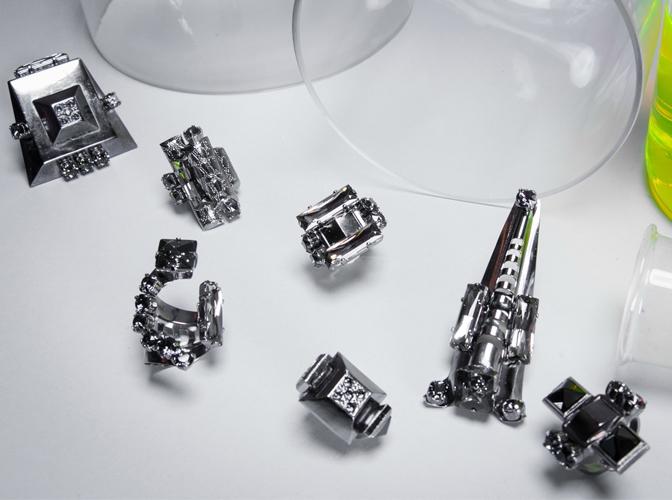 ring gun metal crystal unisex accessories ete 2017 by on aura tout vu paris
