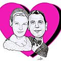 Caricature mariage