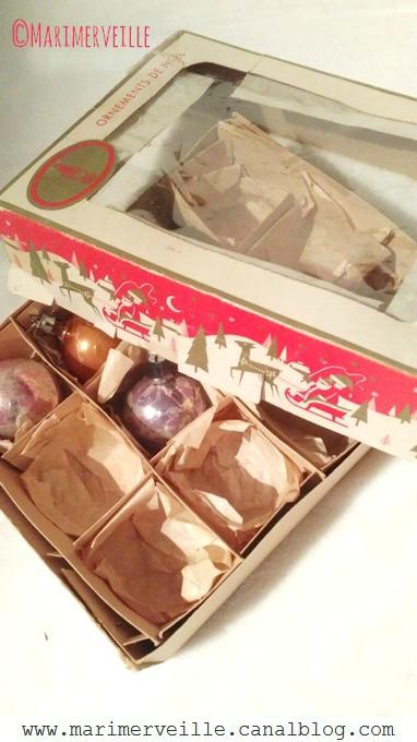 boîte vintage boules de Noël années 50 2 - marimerveille