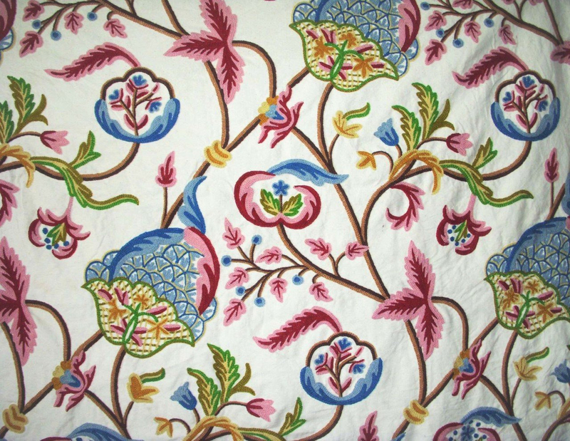 cotton_crewel_embroidered_fabric_pink_blue_FLR205__62658