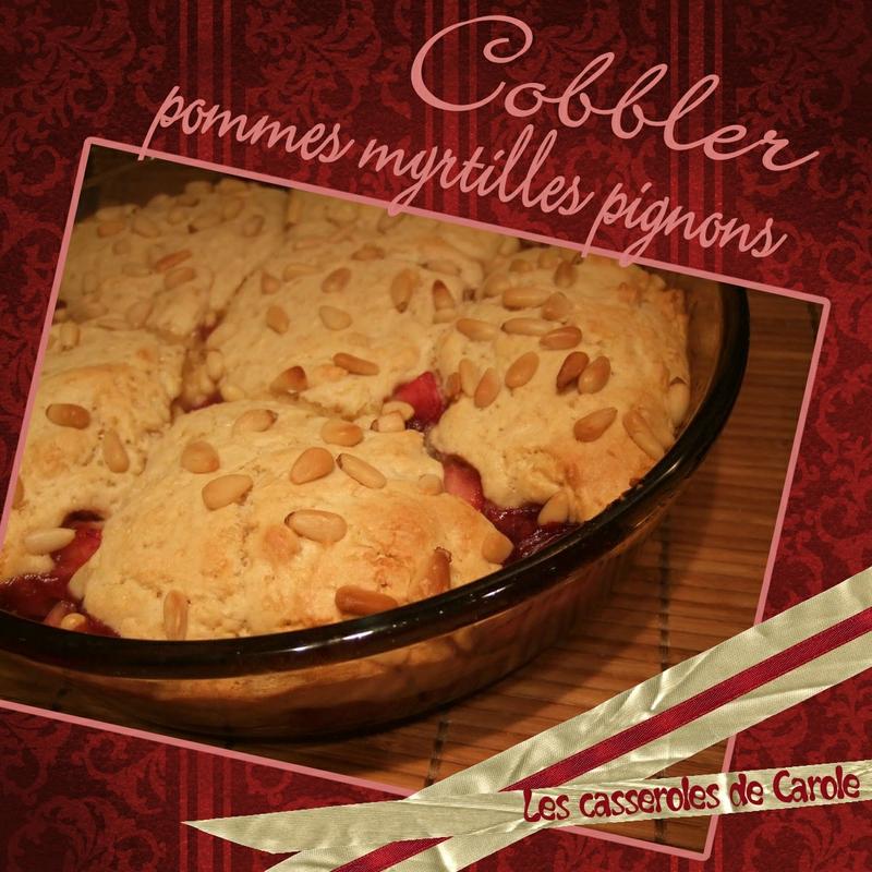 Cobbler pommes myrtilles et pignons (scrap)
