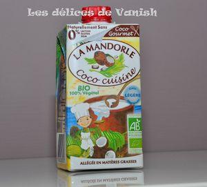 creme coco bio, sans lactose, sans gluten, sans soja