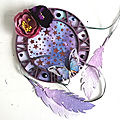 Mixed media dream catcher for simon says stamp monday challenge and bleeding art challenge