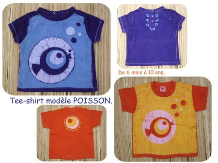 t-shirts poisson bleu et orange BLOG