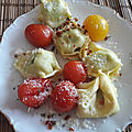 Mini brochettes de tortellinis