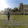 Détention du roi de la ligue charles x au palais épiscopal de maillezais par l'évêque et seigneur d'aubigné (time travel 1589).