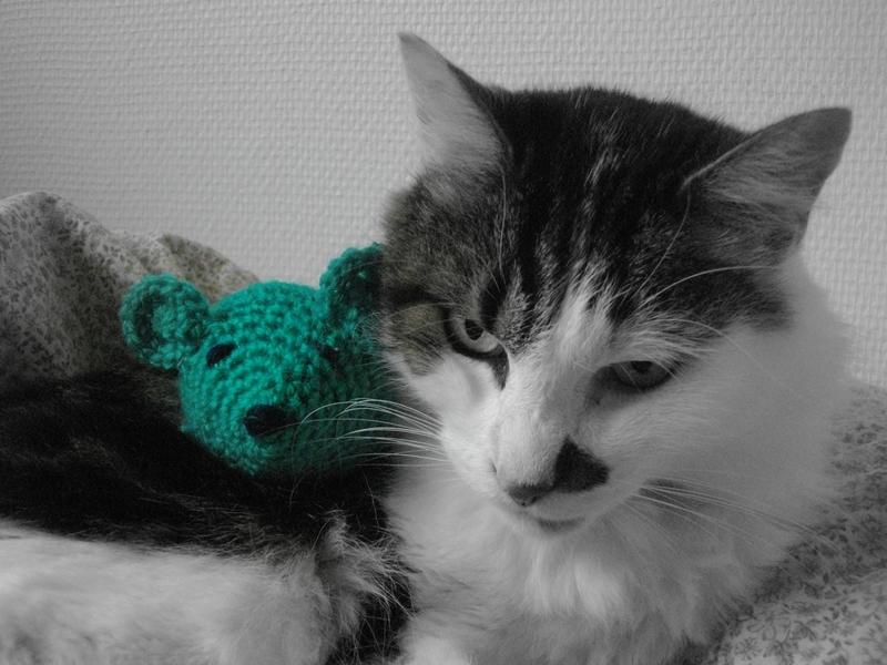 chat souris crochet