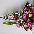 Coupe de fleurs artificielles cimetière : très belle qualité de fleurs dans le dernier arrivage
