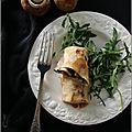 Crêpes aux champignons & roquefort