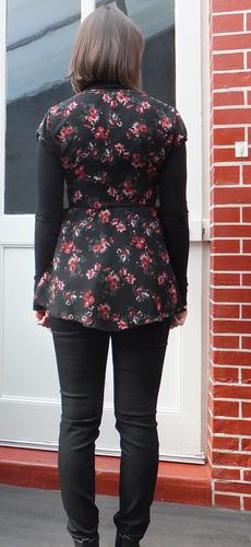 robe fleur après dos