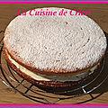 Gâteau citron, crème mascarpone aux pommes