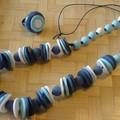 collier dégradé bleus