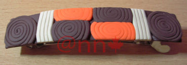 Barrette FIMO orange beige chocolat (N)