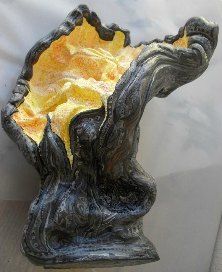 Hervé THAREL SCHMIMBLOCK'S prometheus 2012 - acrylique sur argile - 20,5cmx27cm (3)