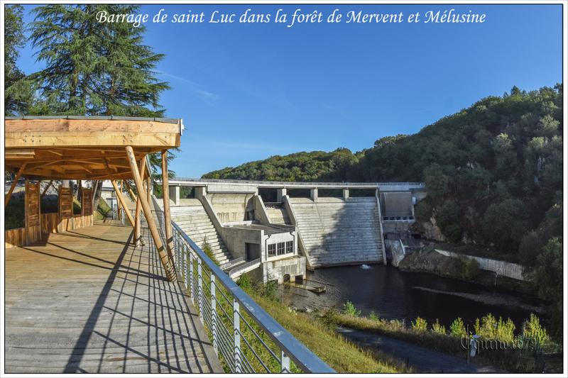 Barrage de saint Luc dans la forêt de Mervent et Mélusine (2)
