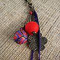 bijoux de sac rouge et violet web