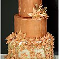 Wedding cake bronze et or 1