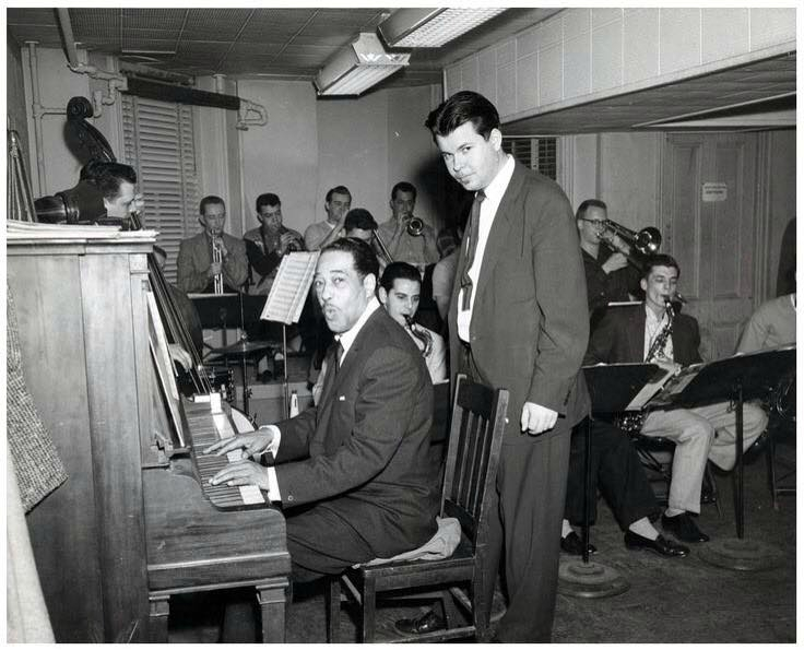 Herb Pomeroy 15 avril 1930 with Duke at Boston's Berklee School of Music, 1957