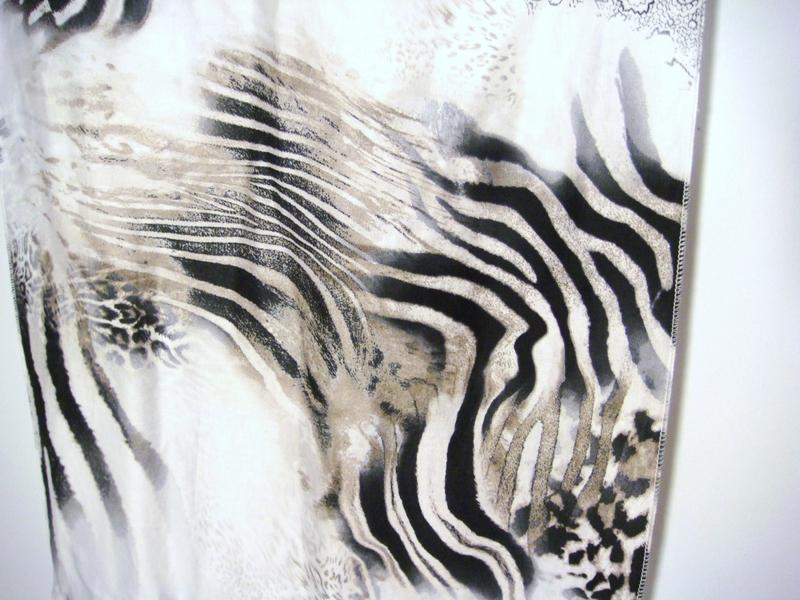 Foulard satin coton safari zoom