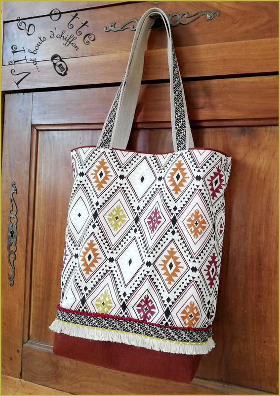 Tote bag azteque