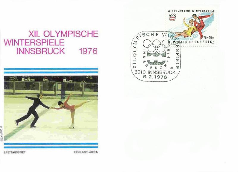 Entier JO Innsbruck 1976 Patinage BF
