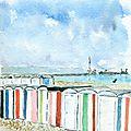 Page 42 cabanes de plage peintes par Karel Martens 2017 - Copie