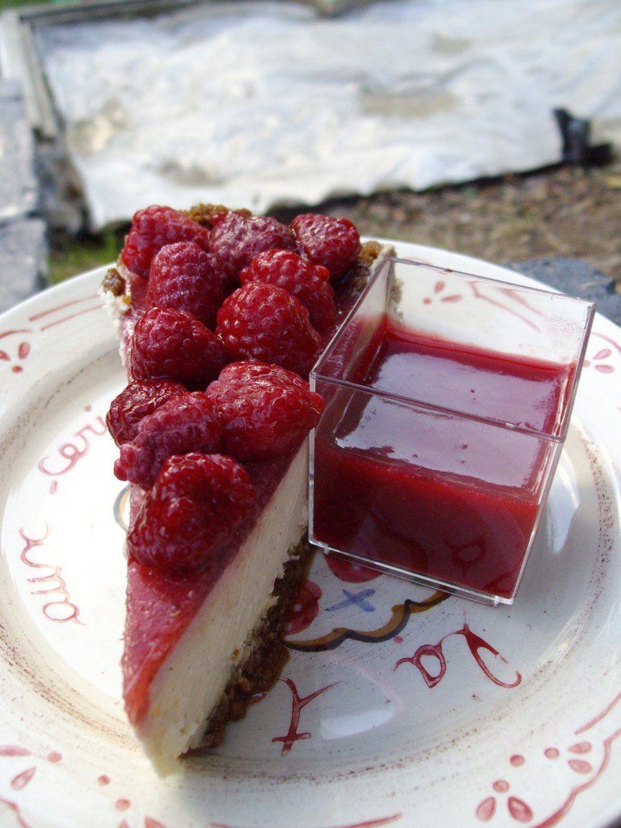 Cheesecake à la vanille/fraises