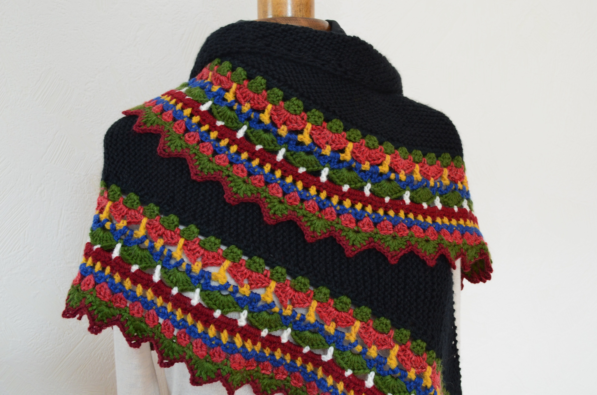 Châle folk-tricot-crochet-laine-La chouette bricole (25)