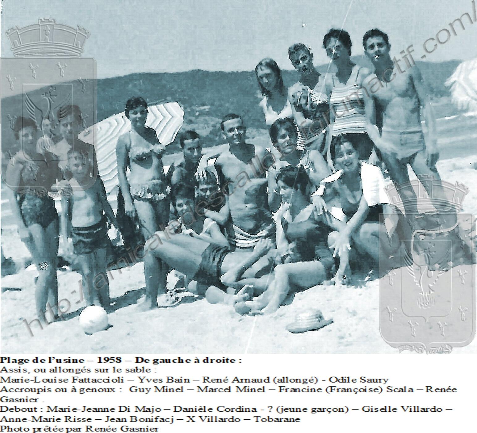 Plage de l'usine – 1958 – PC 131